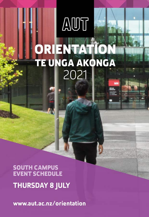 Cover page of South Campus Orientation programme