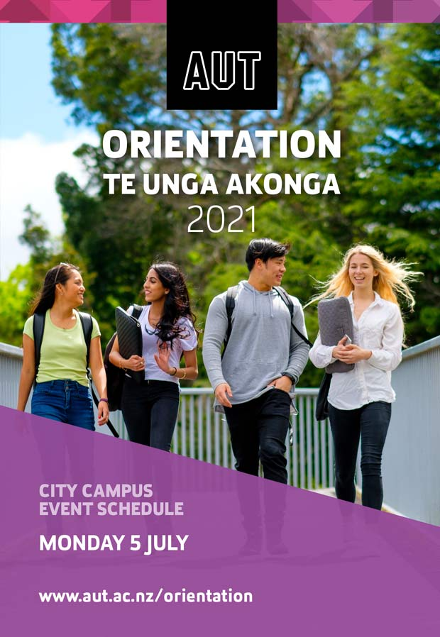 Cover page of Monday Orientation programme