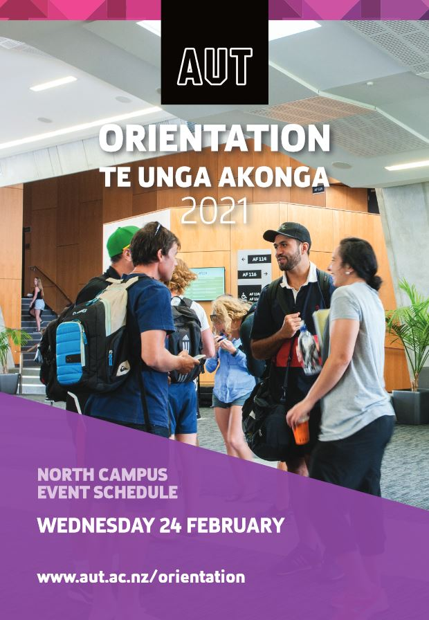 Cover page of Wed 24 Feb North Campus Orientation programme